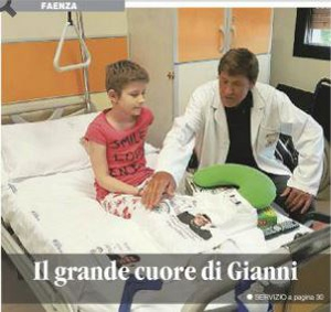 Gianni Morandi with Cosmohelp to help sick children